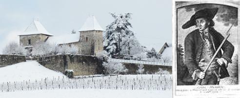 Notre commune : château de Rochefort sous la neige - Mandrin